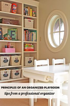 Principles of An Organized Playroom