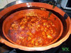 Asado de carne. Potatoes, chile colorado (guajillo), any protein such as pork/chicken/beef/shrimp. Serve with rice or tortillas.