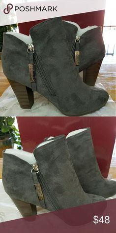 New Super Cute Grey Booties So in love with grey suede booties. Shoes Ankle Boots & Booties