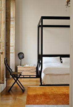 Bedroom in Christian Liaigre's 18th Century Paris Home. Photo by Ivan Tereshchenko
