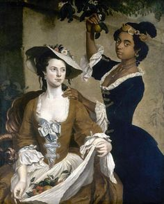 Stephen Slaughter Portrait of Two Society Women England (c. 1740s)