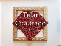 Telar cuadrado bastidor Corte Diamante / tejido para poncho de cuello recto / truco tutorial diy - YouTube