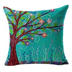 Sannysis® Cojín árbol Cubiertas; Cama Coche Impreso Sofá vintage almohada (marrón), http://www.amazon.es/dp/B013QJLO3S/ref=cm_sw_r_pi_awdl_2NArxbYTQ18QC