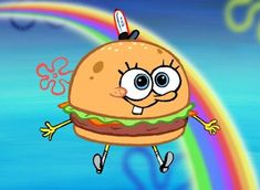 Find images and videos about rainbow, cartoon and spongebob on We Heart It - the app to get lost in what you love. Cartoon Wallpaper Iphone, Cute Disney Wallpaper, Cute Cartoon Wallpapers, Cute Wallpaper Backgrounds, Aesthetic Iphone Wallpaper, Wallpaper Spongebob, Spongebob Painting, Spongebob Drawings, Cartoon Painting