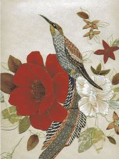 Claire Coles machine stitches vintage wallpapers together to create layered textile art that explores colour, texture and pattern. Her vint. Pictures To Paint, Print Pictures, Patterns In Nature, Print Patterns, A Level Textiles, Collage, Textile Art, Textile Design, Floral Fabric