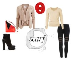 """""""Red scarf"""" by varga-monika on Polyvore featuring Object Collectors Item and Forever 21"""