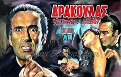 "#ChristopherLee ""Horror Of #Dracula "" 1958 #portrait #painting, original Giant-movie #poster #hammerfilms #gothic #nosferatu"