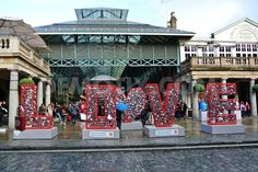 British Heart Foundation Love Installation for Valentines Day in Covent Garden, London.