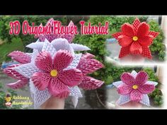 HOW TO MAKE 3D ORIGAMI LOTUS FLOWER AND BUD | DIY PAPER LOTUS FLOWER TUTORIAL - YouTube