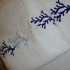 coral design match on towels..sheets...tableclothes..in different colours