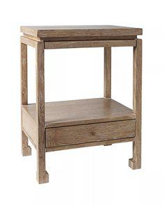 Arteriors Home Gentry Gray Limed Oak Side Table