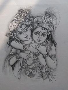 Lord Krishna Sketch, Krishna Drawing, Krishna Painting, Krishna Art, Krishna Images, Radhe Krishna, Art Drawings For Kids, Art Drawings Sketches, Colorful Drawings