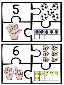 Number puzzles! Such a fun way to practice all the ways to make numbers