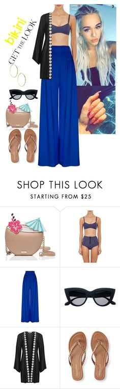 """""""Untitled #205"""" by fatyhnrqz94 ❤ liked on Polyvore featuring Kate Spade, Lisa Marie Fernandez, Hebe Studio, Topshop, Aéropostale, GUESS by Marciano, GetTheLook and Swimsuits"""