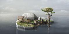 http://www.fubiz.net/2014/10/23/tiny-digital-islands/
