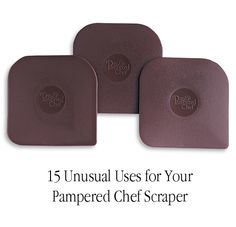 15 Unusual Uses for a Pampered Chef Pan Scraper Buy these amazing little scrapers & hundreds of other awesome products at: www.pamperedchef.biz/kelleyvg