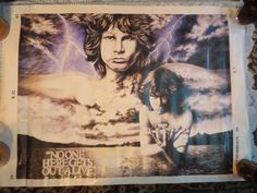 Vintage Jim Morrison The Doors No One Here Gets Out Alive Poster 25 x 36""