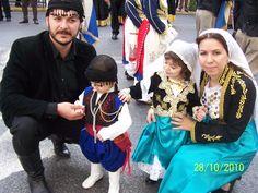 Cretan traditional costumes Greek Traditional Dress, Crete Island, Folk Dance, Dance Dresses, Old And New, Greek Costumes, Captain Hat, Culture, Folklore