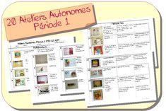 Ateliers Autonomes Période 1 MS-GS (Zaubette)
