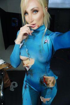 Zero suit Samus after a hard day : cosplaygirls