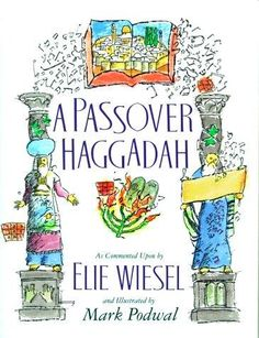 With this Passover Haggadah, Elie Wiesel and his friend Mark Podwal invite you to join them for the Passover Seder. (Image: Book cover with illustration by Mark Podwal) Available in accessible digital formats for people with print disabilities on Bookshare at https://www.bookshare.org/browse/book/623198. For more accessible books about Passover, see https://www.bookshare.org/search?title=Passover&categories=Religion+and+Spirituality.