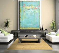 Painting acrylic fine art abstract painting por CherylWasilowArt