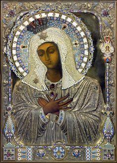 Rejoice Bride Nenevestnaya icon of the Mother of God. -- Радуйся Невесто Неневестная икона Божией Матери ☩