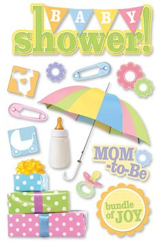 Paper House Productions - 3 Dimensional Cardstock Stickers - Baby Shower at Scrapbook.com $3.99
