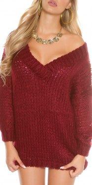 Trendy Oversize-knit jumper with v-neck