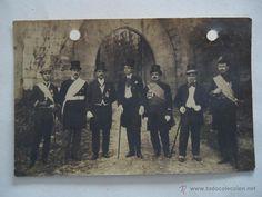 Fotografía antigua: GALICIA.PONTEVEDRA.BAYONA.POSTAL FOTOGRAFICA 'JOSELIN' ALCALDE DE BAYONA Y SU GOBIERNO 'CANTIÑAN' - Foto 1 - 45871552