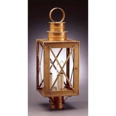 Northeast Lantern Suffolk 3 Light Lantern Head Finish: Verdi Gris, Shade Type: Clear Seedy