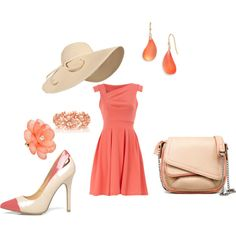 Coral Fabo, created by prettydelta5 on Polyvore