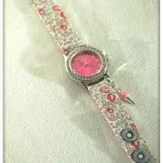 Montre bracelet en liberty eloise rose