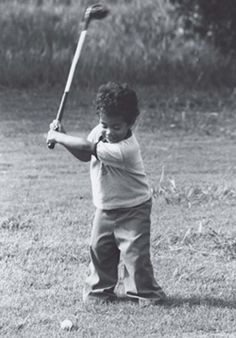 Baby Tiger Woods.  Nice form.