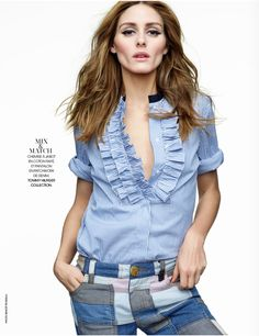 We're excited to share Olivia's latest spread with Woman Madame Figaro​, featuring denim pieces from Tommy Hilfiger