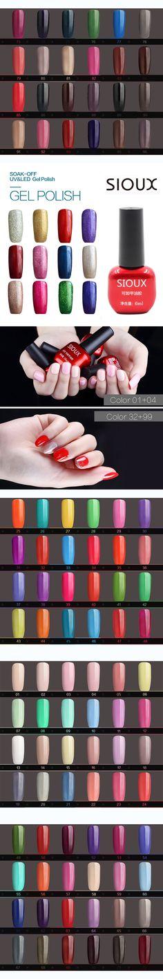 97-108 SIOUX 6ml UV Gel Nail Polish LED Lamp Long lasting Soak Off Cheap Gelpolish Vernis Top Coat Glue 108 Color SI07