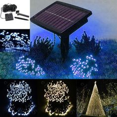 Solar powered christmas lights solar powered christmas lights 100200 led string solar battery light outdoor garden xmas party fairy tree lamp mozeypictures Images