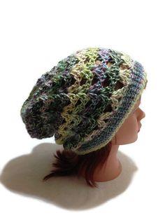 Crochet Boho Beanie Pastel Grunge Hat Fashion by AddSomeStitches Slouchy Beanie Hats, Beanies, Crochet Beanie, Crochet Hats, Boho Hat, Halloween Hats, Pastel Grunge, Pink Cotton Candy, News Boy Hat