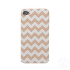 Tan Chevron Pattern iPhone 4/4S Case by Organic Saturation