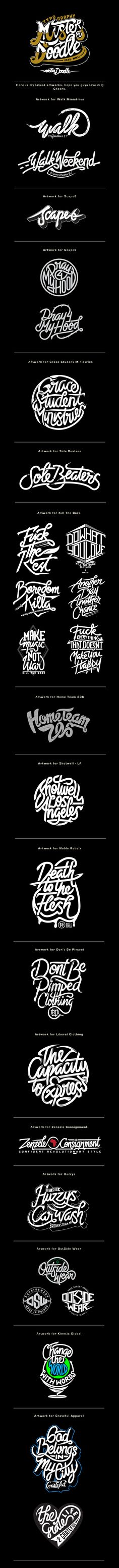 Hand Lettering Projects v.3 on Behance