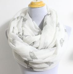 Hey, I found this really awesome Etsy listing at https://www.etsy.com/listing/126665990/white-owl-infinity-scarf-chunky-and