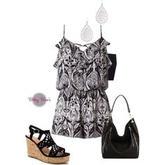 Set 469: B/W Vintage Romper (bag & shoes sold separate)