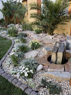Awesome 49 Stunning Rock Garden Landscaping Ideas.