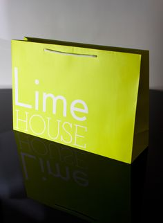 Bags designed for new fashion brand Lime House #packaging #bags #luxury #lime…