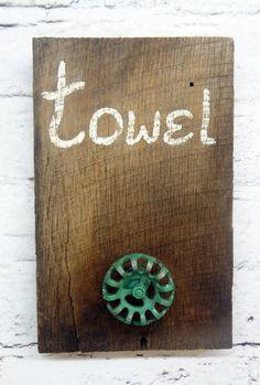 Rustic Handmade Towel Rack Holder by ThePinkToolBox on Etsy, $14.00
