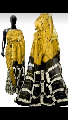 New silk cotton chanderi sarees with blouse piece