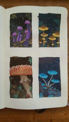 Pretty Art, Cute Art, Art Sketches, Art Drawings, Posca Art, Arte Sketchbook, Guache, Hippie Art, Art Inspo