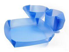New DIY Flat Folding Foldable Portable Pack Tableware Plate Dish Bowl Cup Flat_