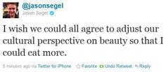 Great tweet by Jason Segel.
