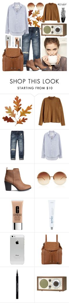 """""""----"""" by sarah-e-k ❤ liked on Polyvore featuring H&M, Hollister Co., Frank & Eileen, Linda Farrow, Clinique, The Sak, Givenchy and Tivoli Audio"""